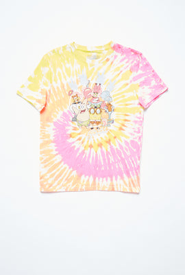 AERO Girls Tie Dye SpongeBob Graphic Tee