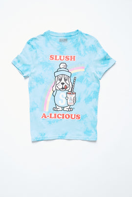 AERO Girls Tie Dye Slush A-Licious Graphic Tee