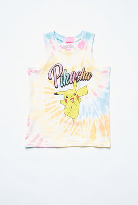 AERO Girls Tie Dye Pikachu Graphic Tank