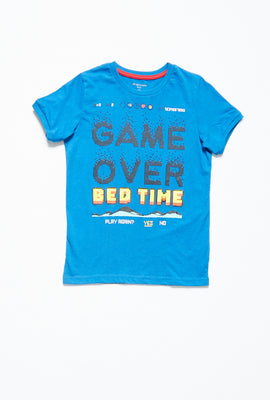 Boys Graphic Game Over Bed Time 2 Piece Pajama Set