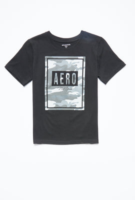 AERO Boys Camouflage Box Aero Graphic Tee
