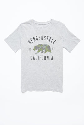 AERO Boys Camouflage Bear Aéropostale California Graphic Tee