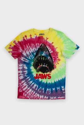 AERO Boys Tie Dye Jaws Graphic Tee