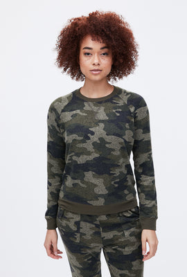 Cloud Jersey Camouflage Pullover Sweatshirt