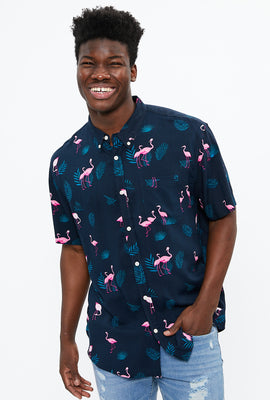 Tropical Flamingo Short Sleeve Shirt
