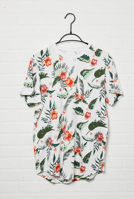 All Over Print Scoop Hem Tee