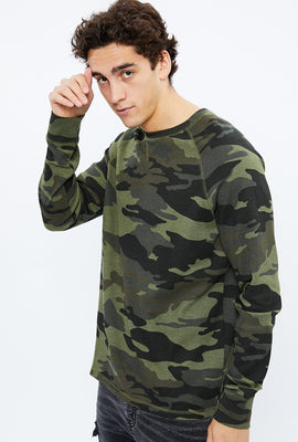 Thermal Raglan Camouflage Long Sleeve Tee
