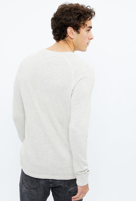 Solid Thermal Raglan Long Sleeve Tee