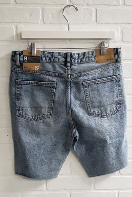 Short en denim étroite à effet Destruction