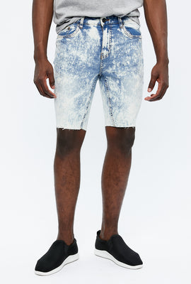 Skinny Denim Destroyed Short