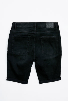 Skinny Destroyed Denim Short