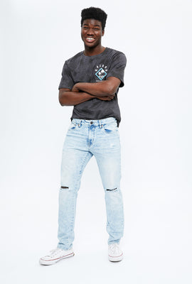 AERO Max Stretch Slim Destroyed Jean