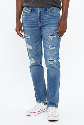 AERO Max Stretch Slim Rip And Repair Jean
