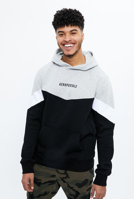 Aéropostale Chevron Cut & Sew Graphic Hoodie
