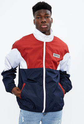 Aéropostale Mock Neck Colour Block Windbreaker