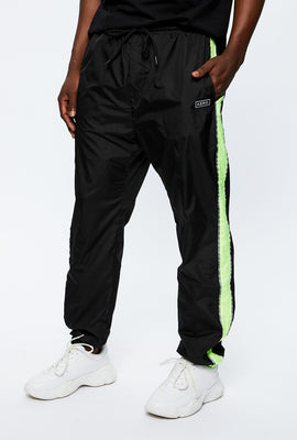 Colour Block Wind Pant With Reflective Piping
