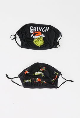 Super Soft Double Layered Reusable The Grinch Mask 2-Pack