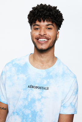 AERO Tie Dye Embroidered Aéropostale Tie Dye Graphic Tee