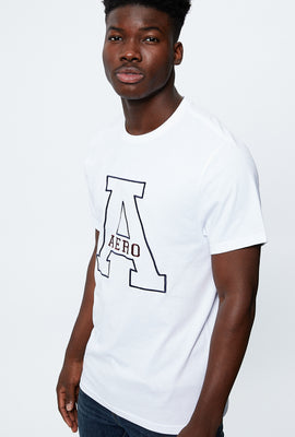 AERO Linear A Embroidery Graphic Tee