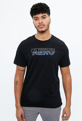 AERO Box Embroidery with Applique Graphic Tee