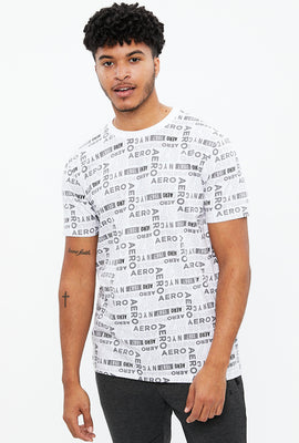 AERO Branded All Over Print Graphic Tee