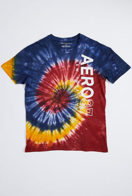 AERO 87 Vertical Tie Dye Graphic Tee