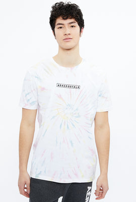 Aéropostale Embroidery Spiral Tie Dye Graphic Tee