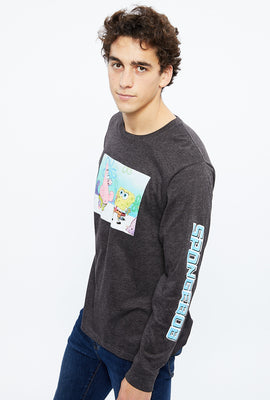 Spongebob Patrick Long Sleeve Graphic Tee