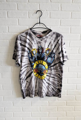 Guns N Roses Skeleton Tie Dye Graphic Tee