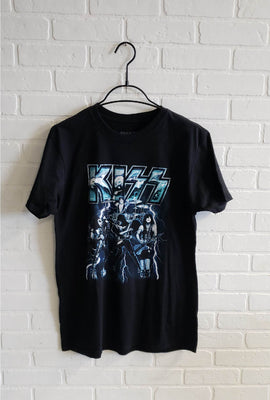 Kiss Electric Background Graphic Tee