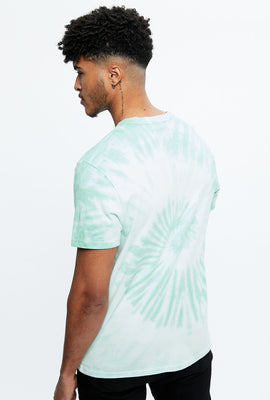 7UP Tie Dye Spiral Graphic Tee