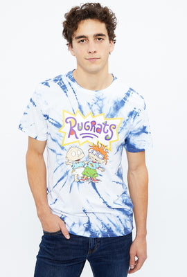 Rugrats Blue Tie Dye Graphic Tee