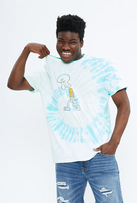 Squidward Spiral Tie Dye Graphic Tee