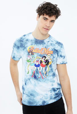 Sailor Moon Blue Tie Dye Graphic Tee