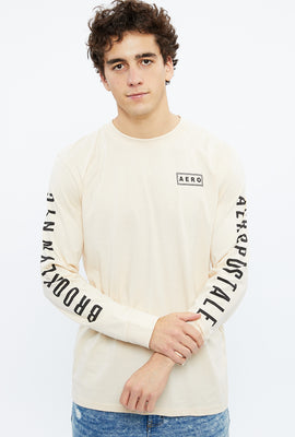 AERO 1987 Linear Square Long Sleeve Graphic Tee