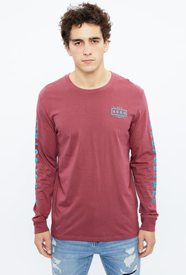 AERO Square Stamp Long Sleeve Graphic Tee