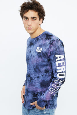 AERO NYC Sleeve Tie Dye Long Sleeve Graphic Tee