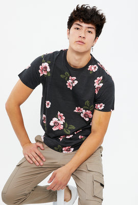Floral All Over Print Pocket Tee
