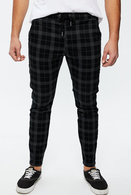 Slim Plaid Jogger