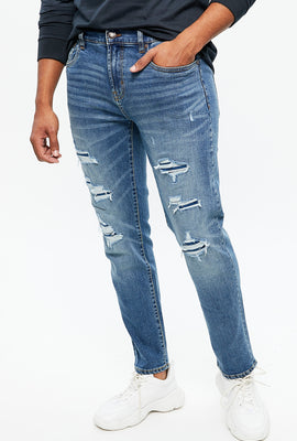 Max Stretch Slim Destroyed Jean