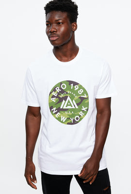 AERO NYC Camo Circle Graphic Tee