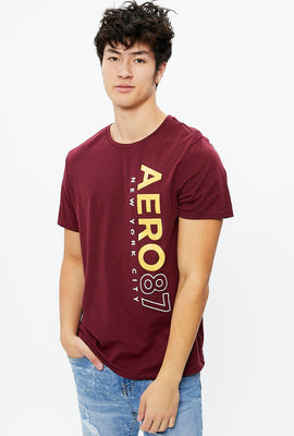 AERO 87 Vertical Print Graphic Tee