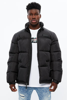 Aéropostale Mock Neck Colour Block Puffer