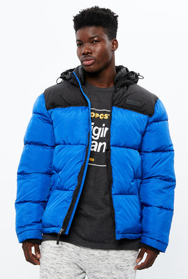 Aéropostale Colour Block Puffer with Hood