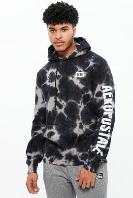 Tie Dye Aéropostale Square Logo Graphic Hoodie