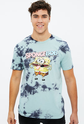 Crazy Spongebob Tie Dye Graphic Tee