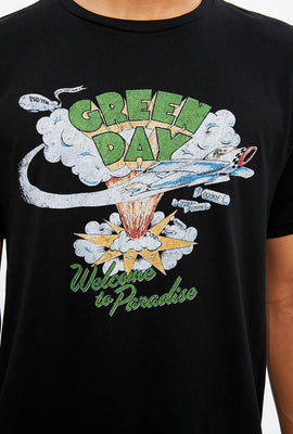 T-shirt à imprimé Green Day Welcome to Paradise