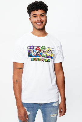 Super Mario Box Logo Graphic Tee