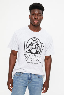 Super Mario Japan Text Hero Graphic Tee