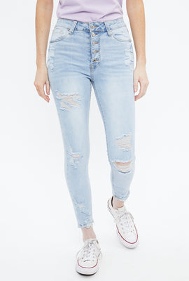 Seriously Stretchy Super High Rise Bite Hem Ankle Jegging